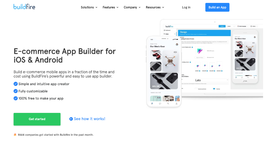 BuildFire homepage