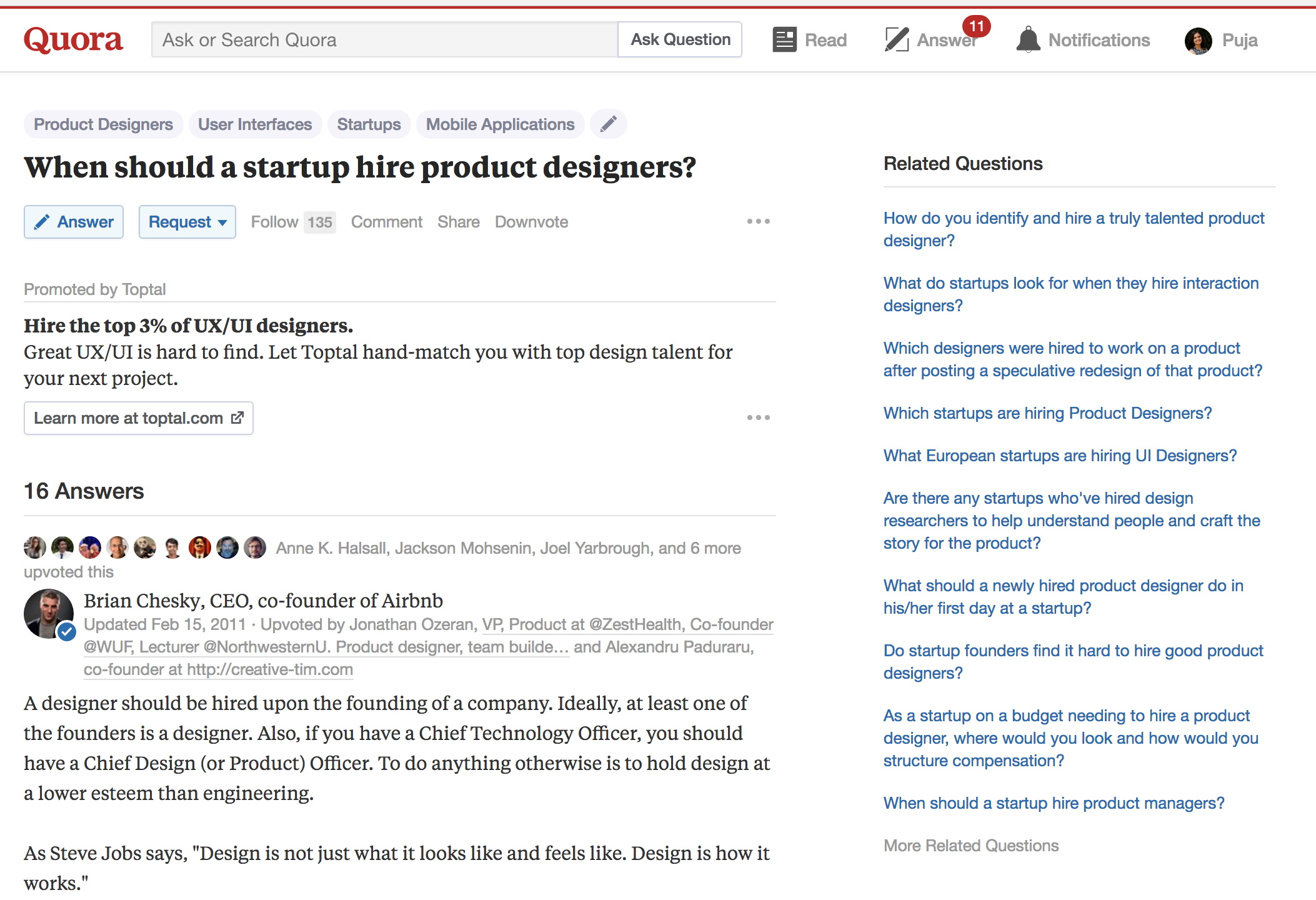 Target your ads to relevant topics and questions on Quora.