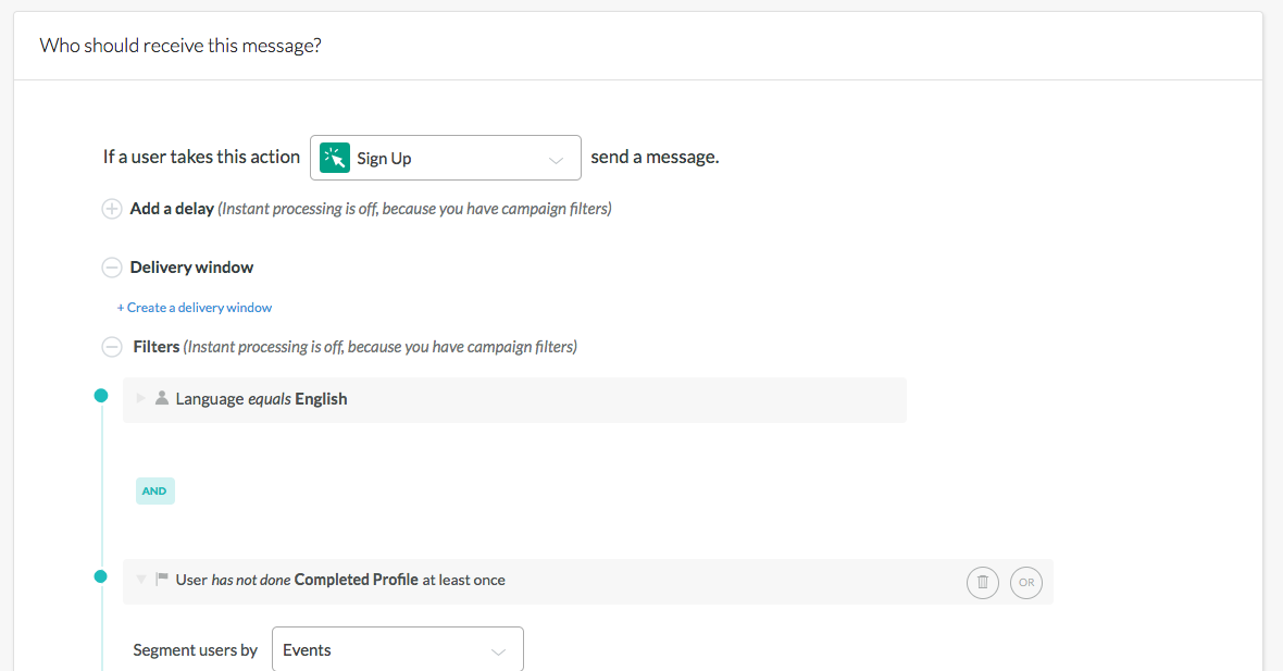 Use data from Segment or other sources to create targeted campaigns based customer profiles and actions.