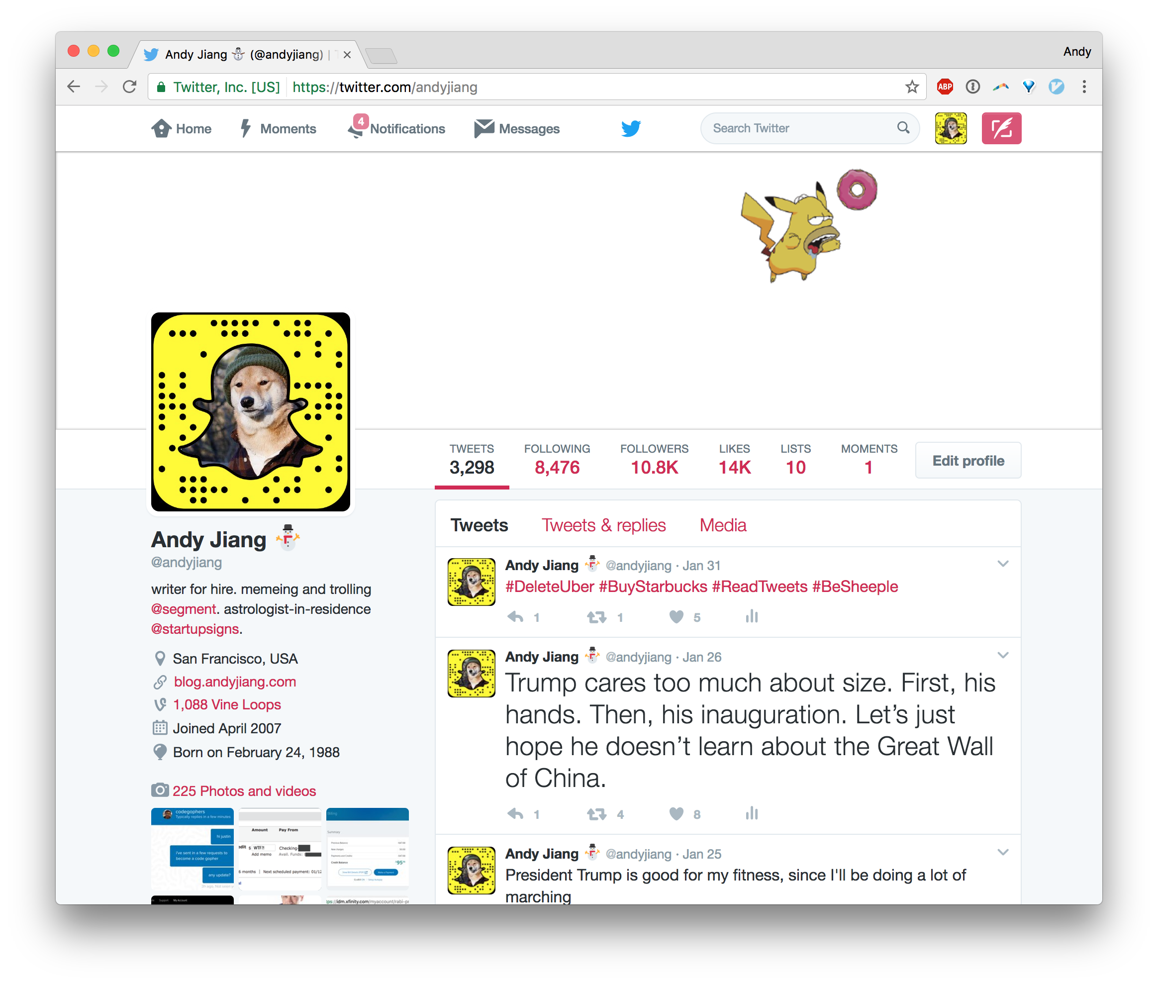 Here is a Twitter Profile Banner Template for Illustrator by Andy Jiang