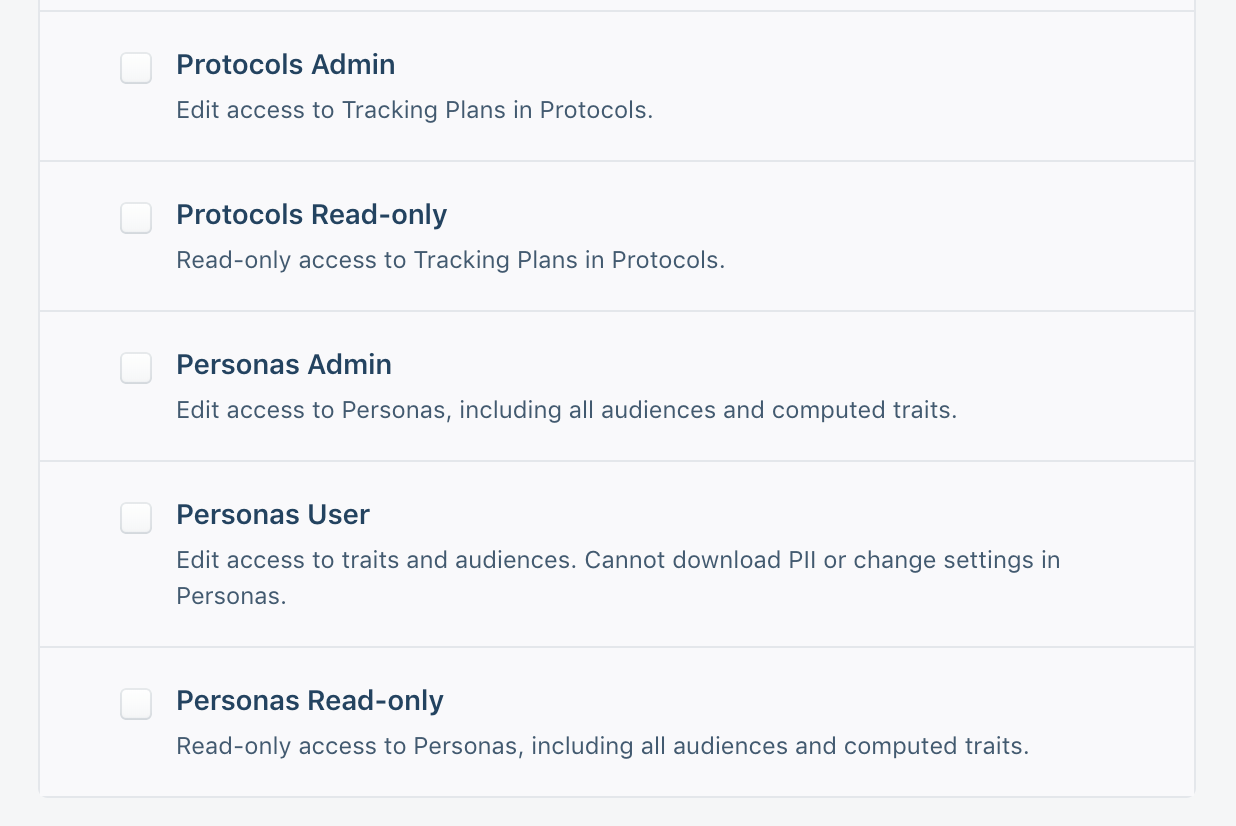 Give teammates access to only Protocols or Personas.