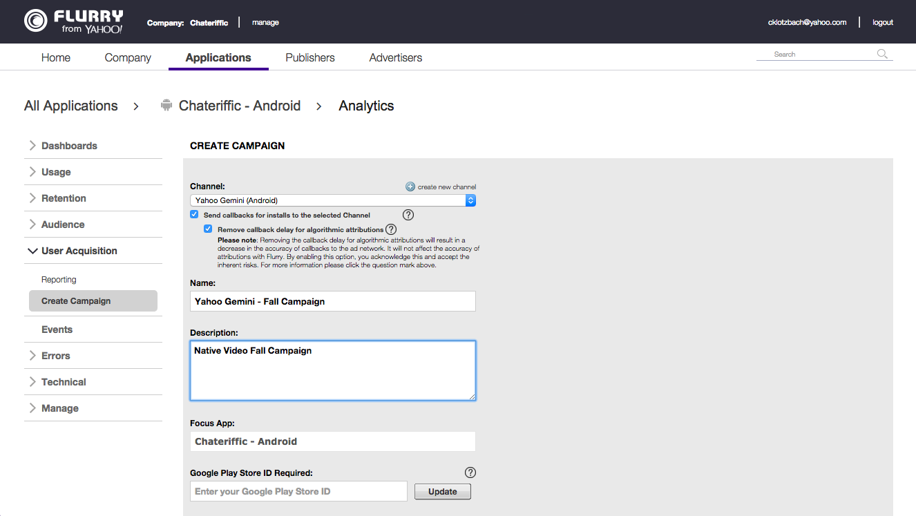 Monitor your user acquisition efforts and measure the impact of specific campaigns or channels