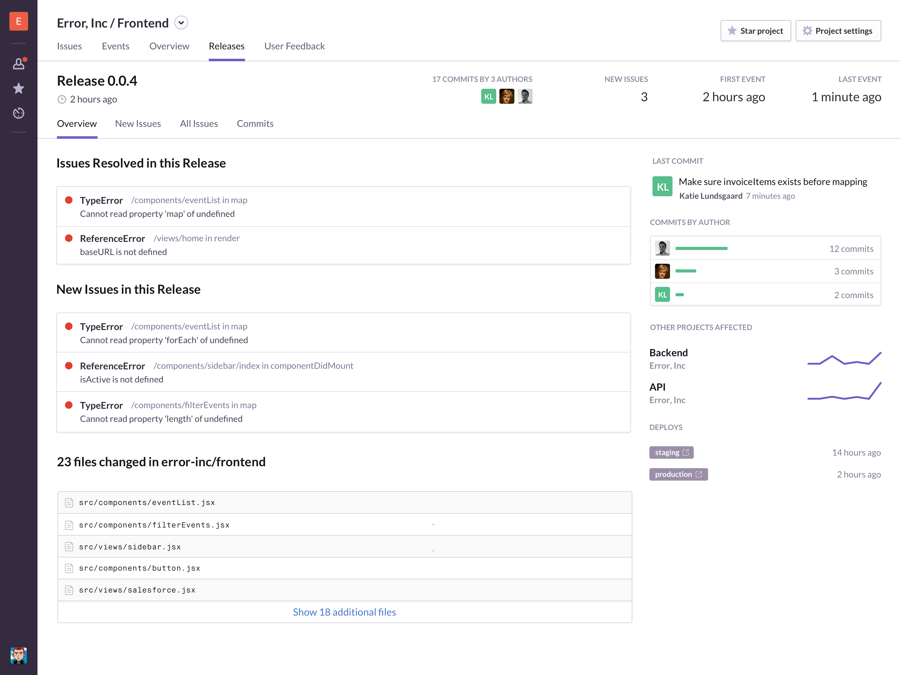Real-time updates and notifications so you can react quickly when the unexpected happens during a deploy.