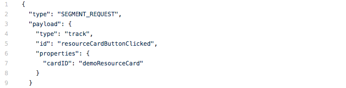 Code snippet of an example action