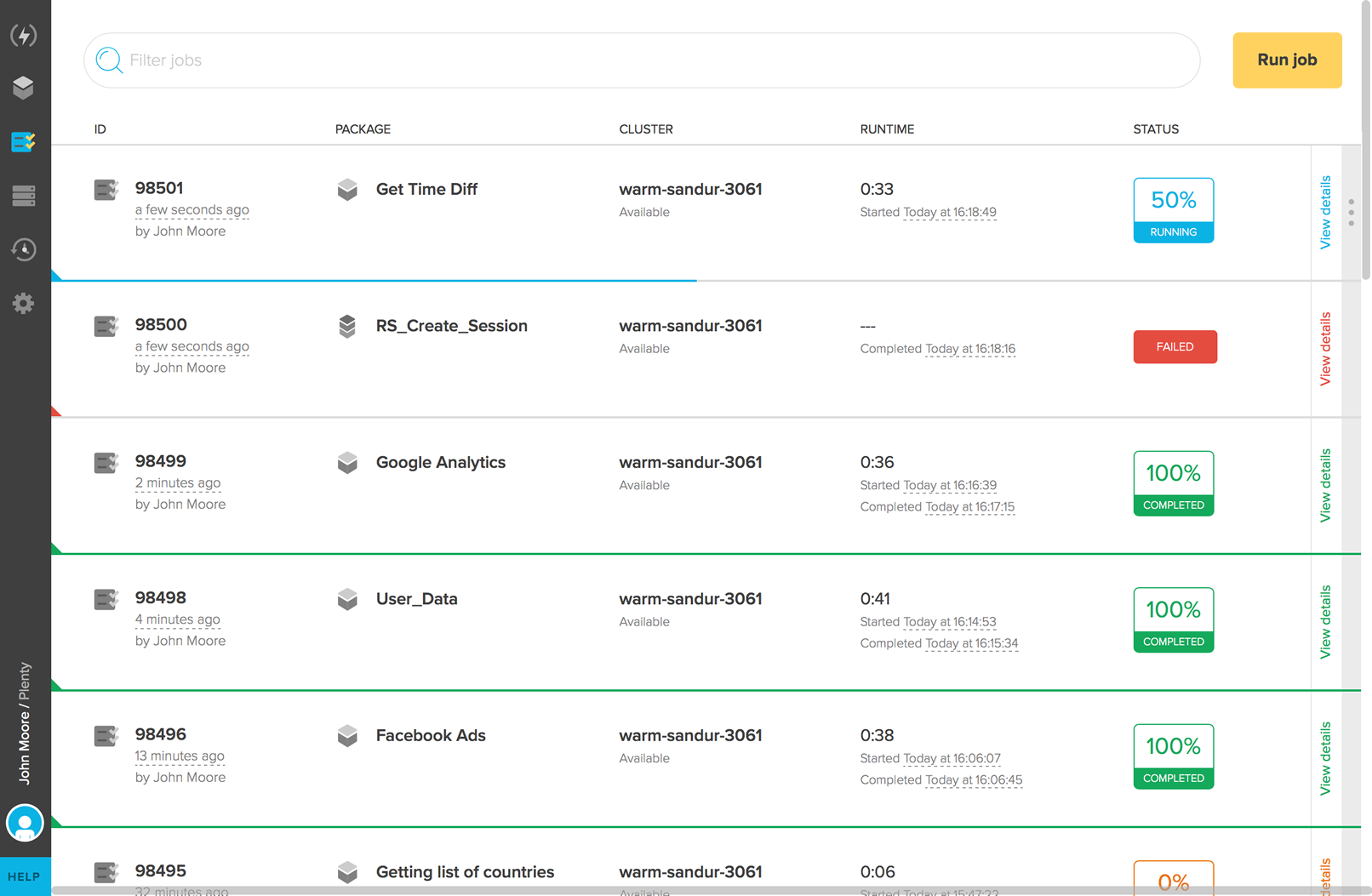 Extracts user data from third-party sources like Facebook Ads, MixPanel, Salesforce, or Google Analytics so teams can customize their data solution stack