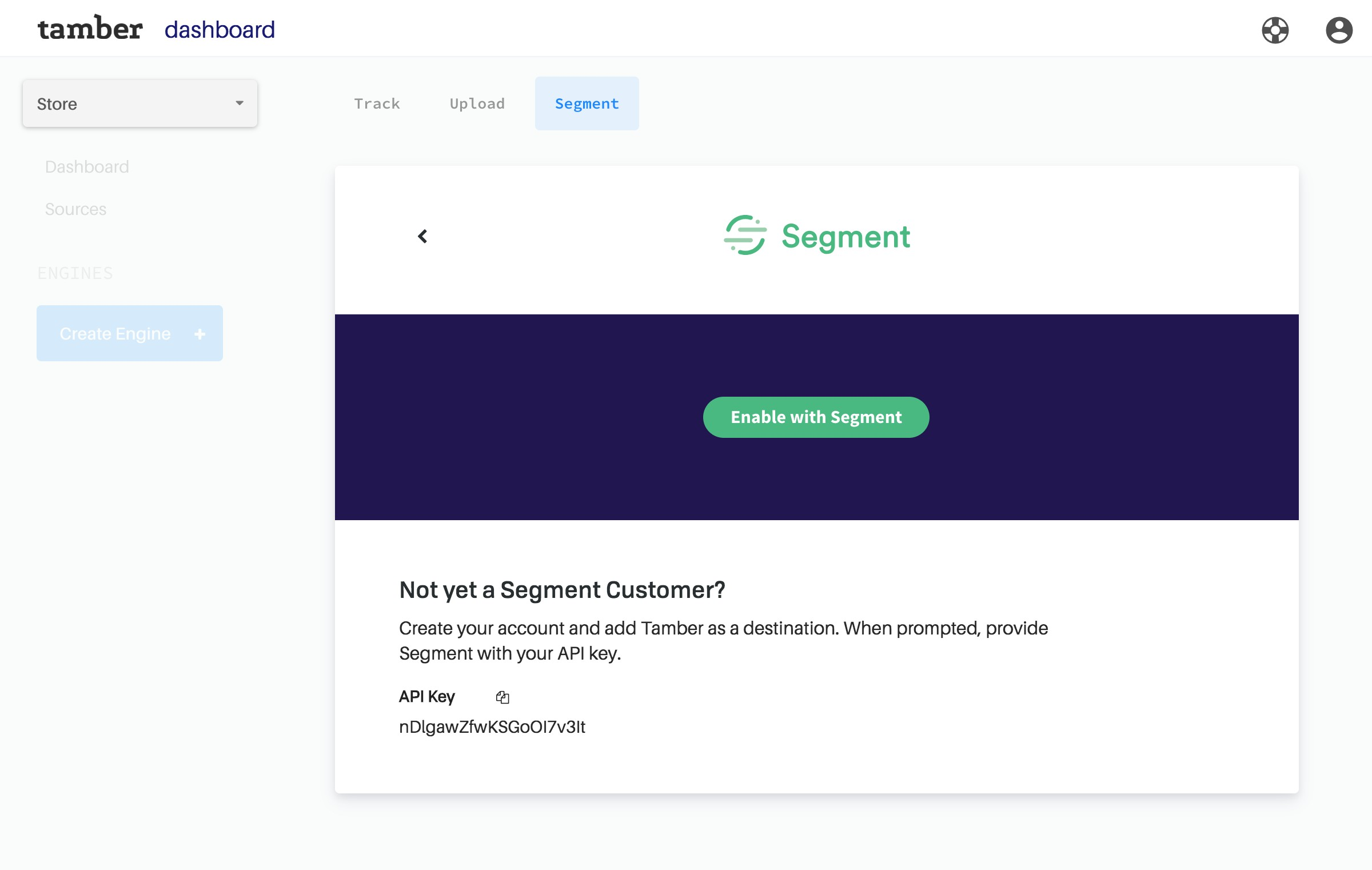 Connect with a click. Tamber supports Segment Video and E-Commerce API Specs for super simple integrations.