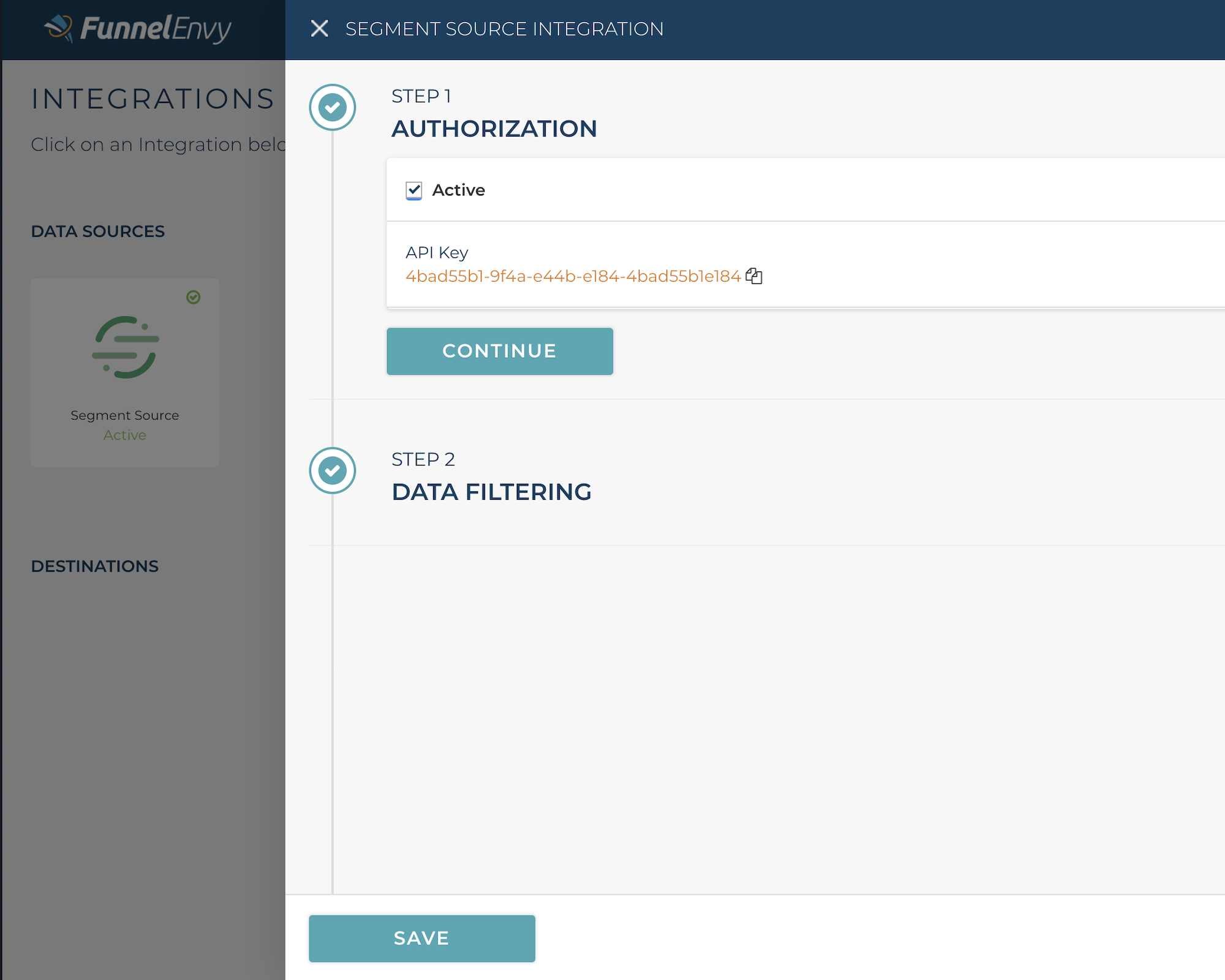 All it takes is a couple clicks to import your user data from Segment