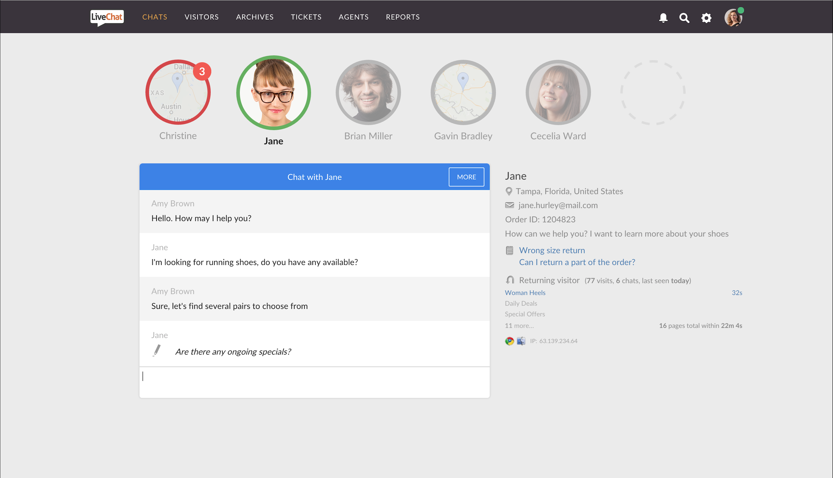 Chat operators get the tools and information they need to provide customer service via live chat.