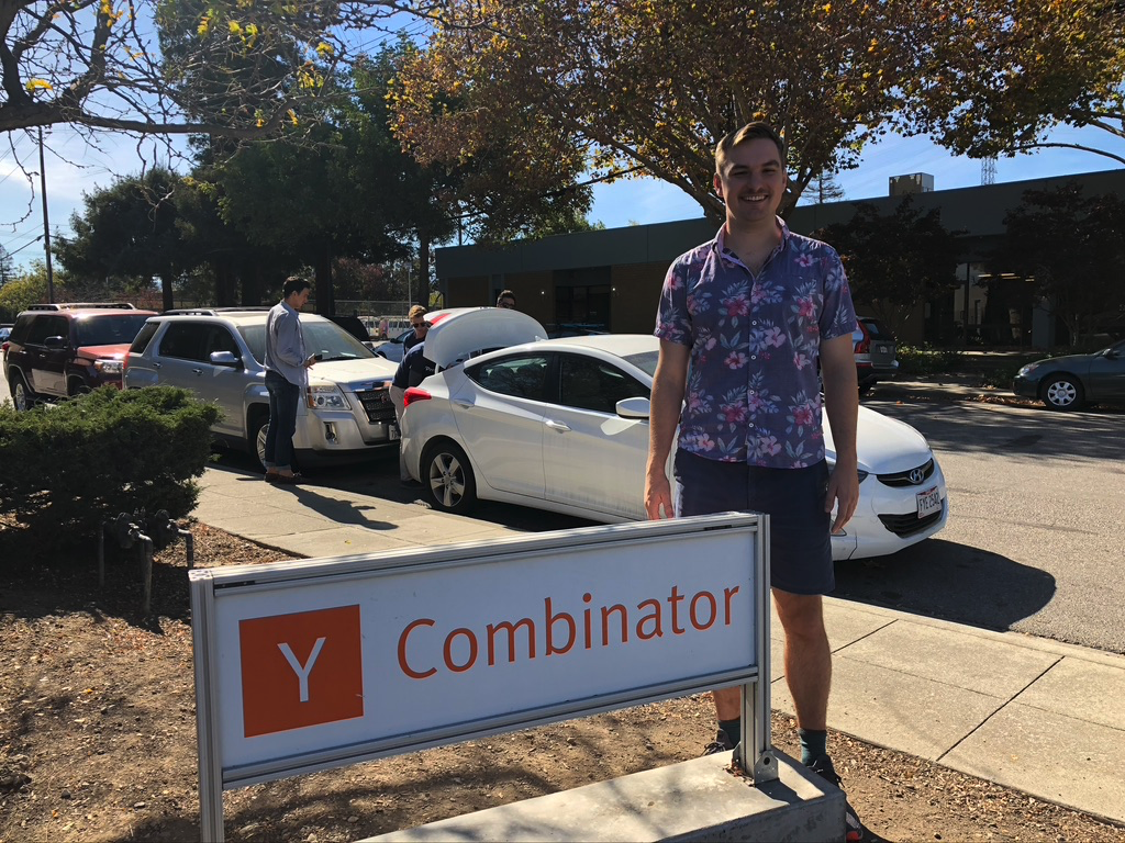 Here I am after interviewing for (and getting rejected from) YC with Scooter Map.