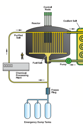 Diagram of a molten salt reactor courtesy of the US DOE Generation IV Roadmap.