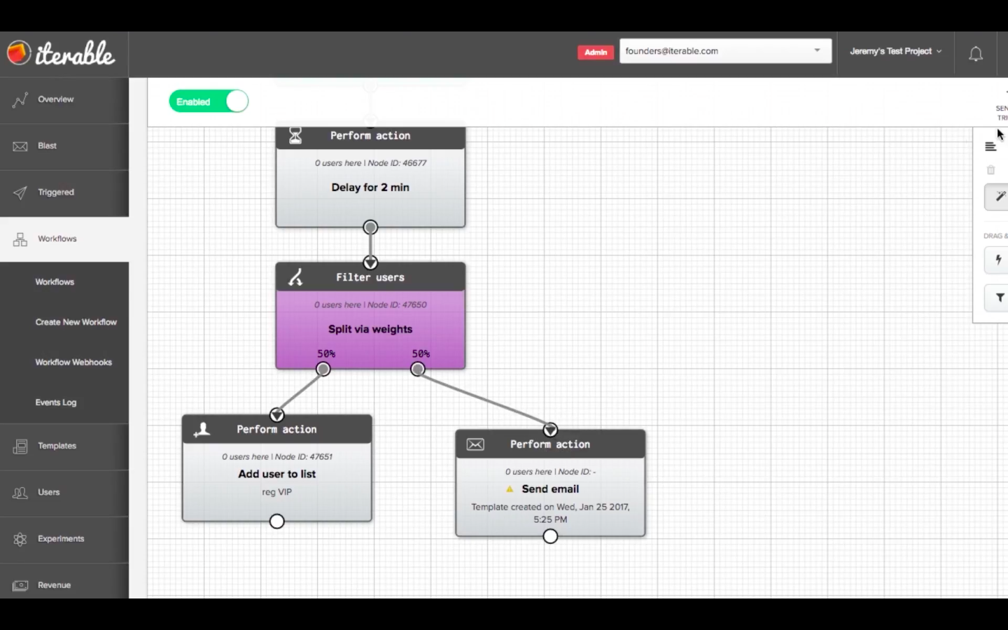 Drag and drop workflows are easy to configure