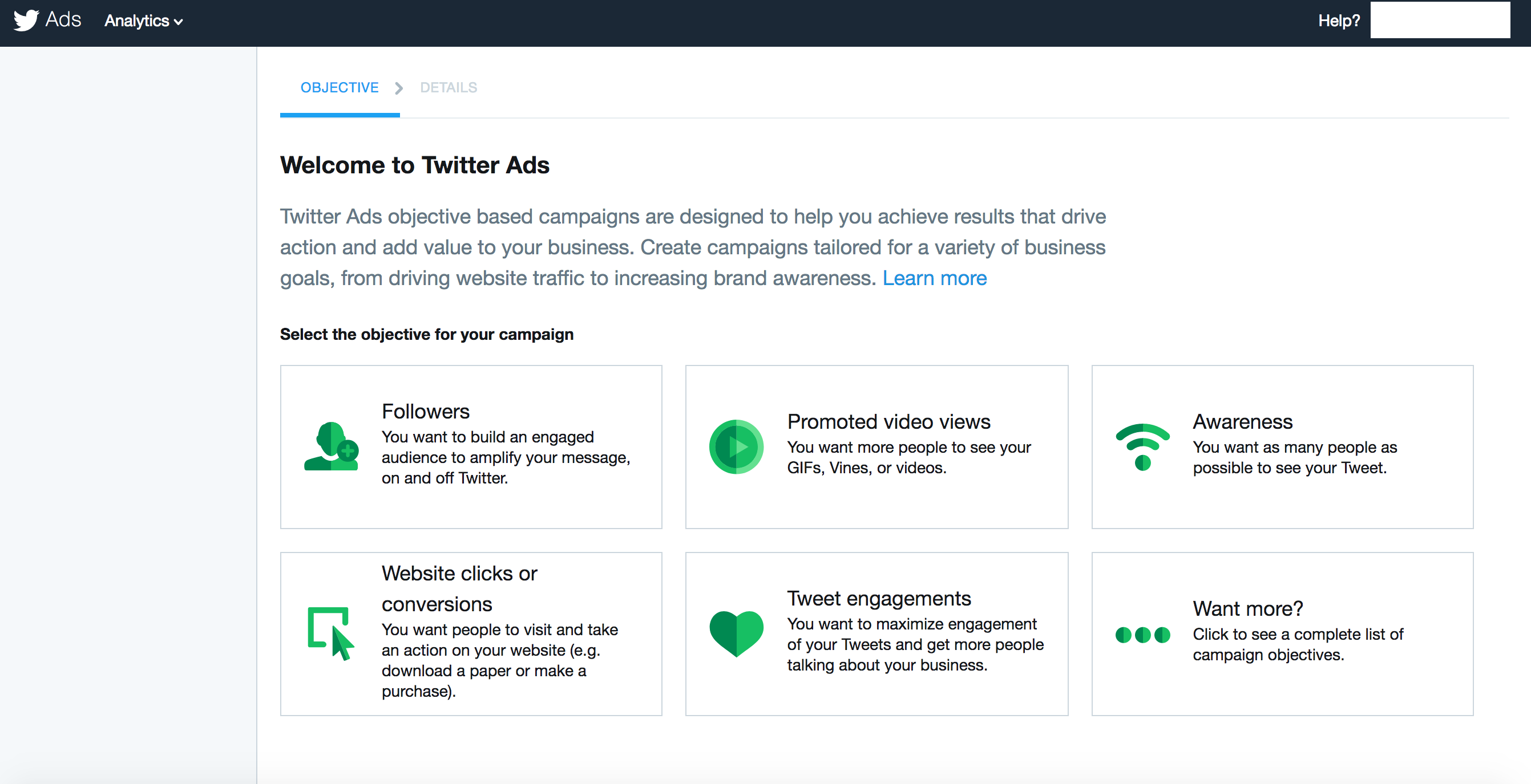 Enables marketers to develop custom ads based on campaign objectives like engagement, awareness, and new followers