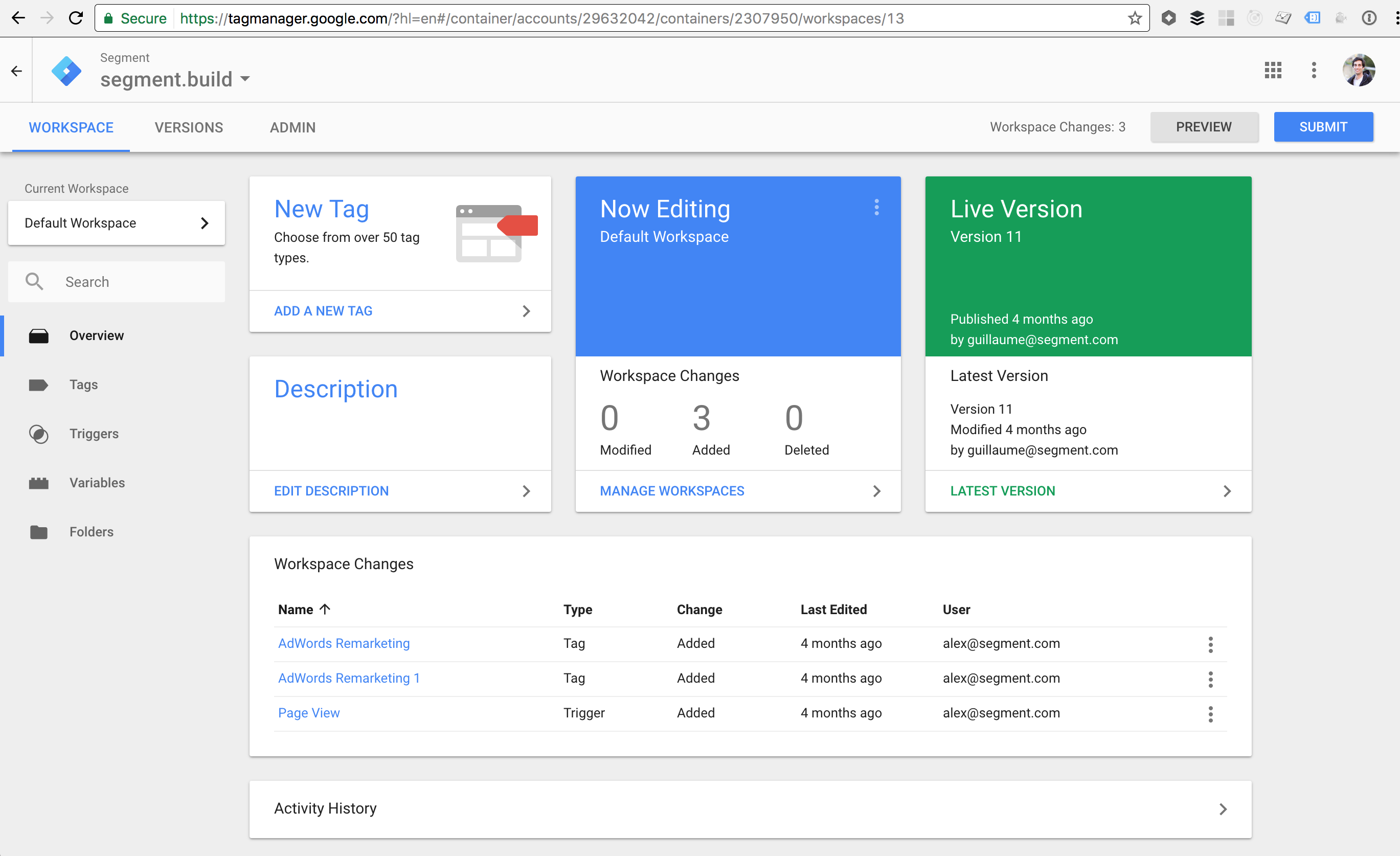 Provides at-a-glance dashboard so marketers can add new tags and manage tags with a few clicks