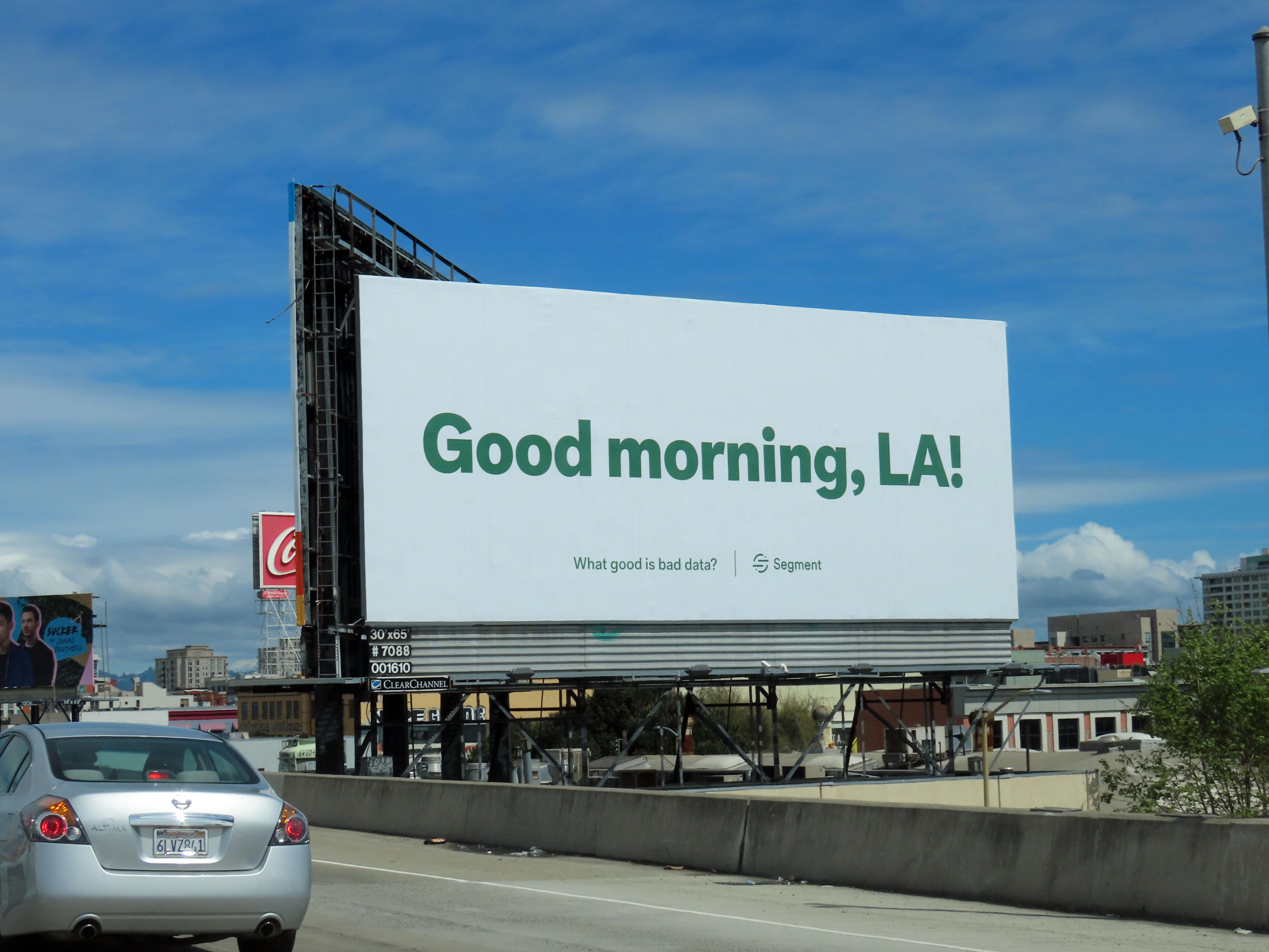 Our billboard in San Francisco