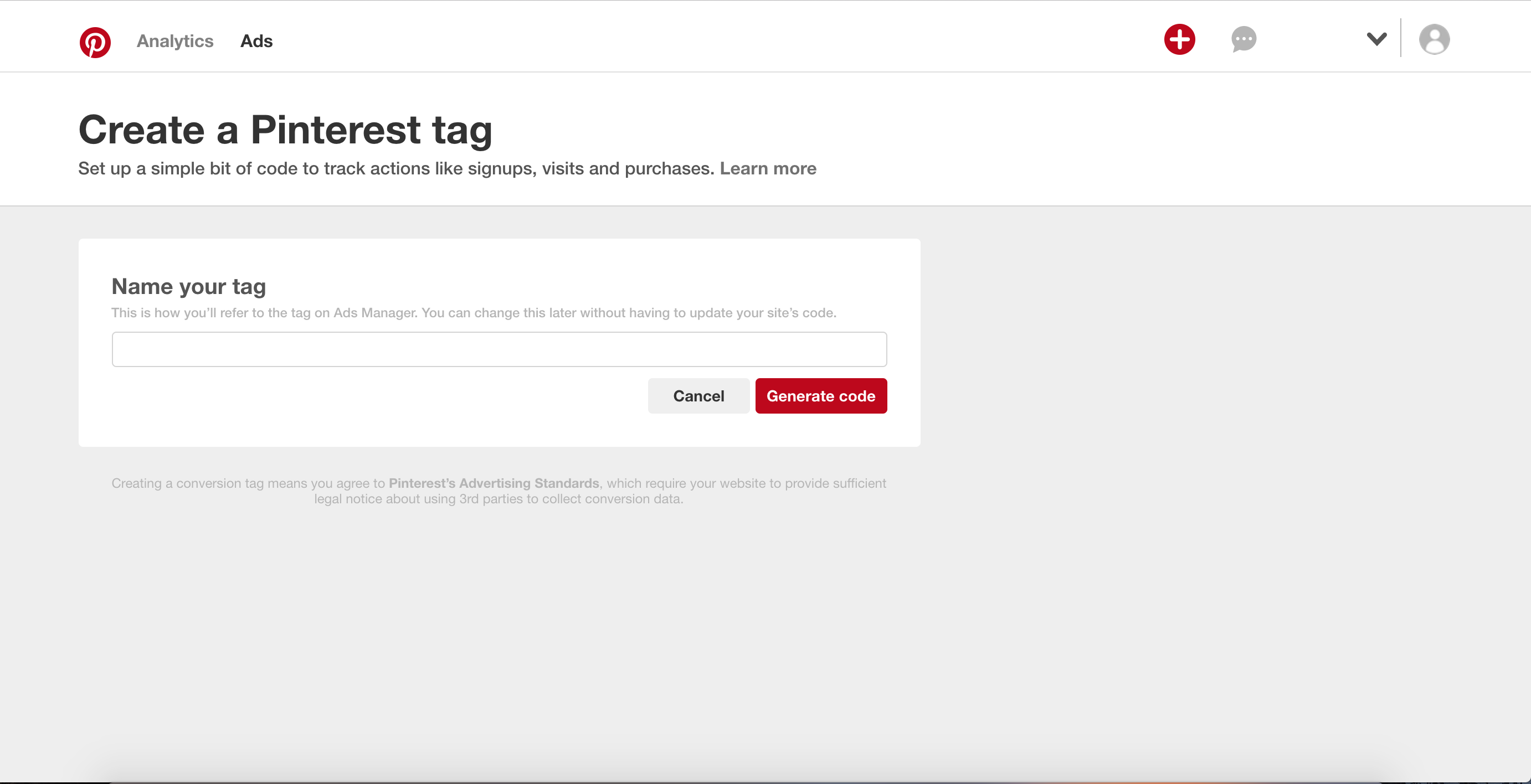 Enables marketers to create tracking tag with a few clicks