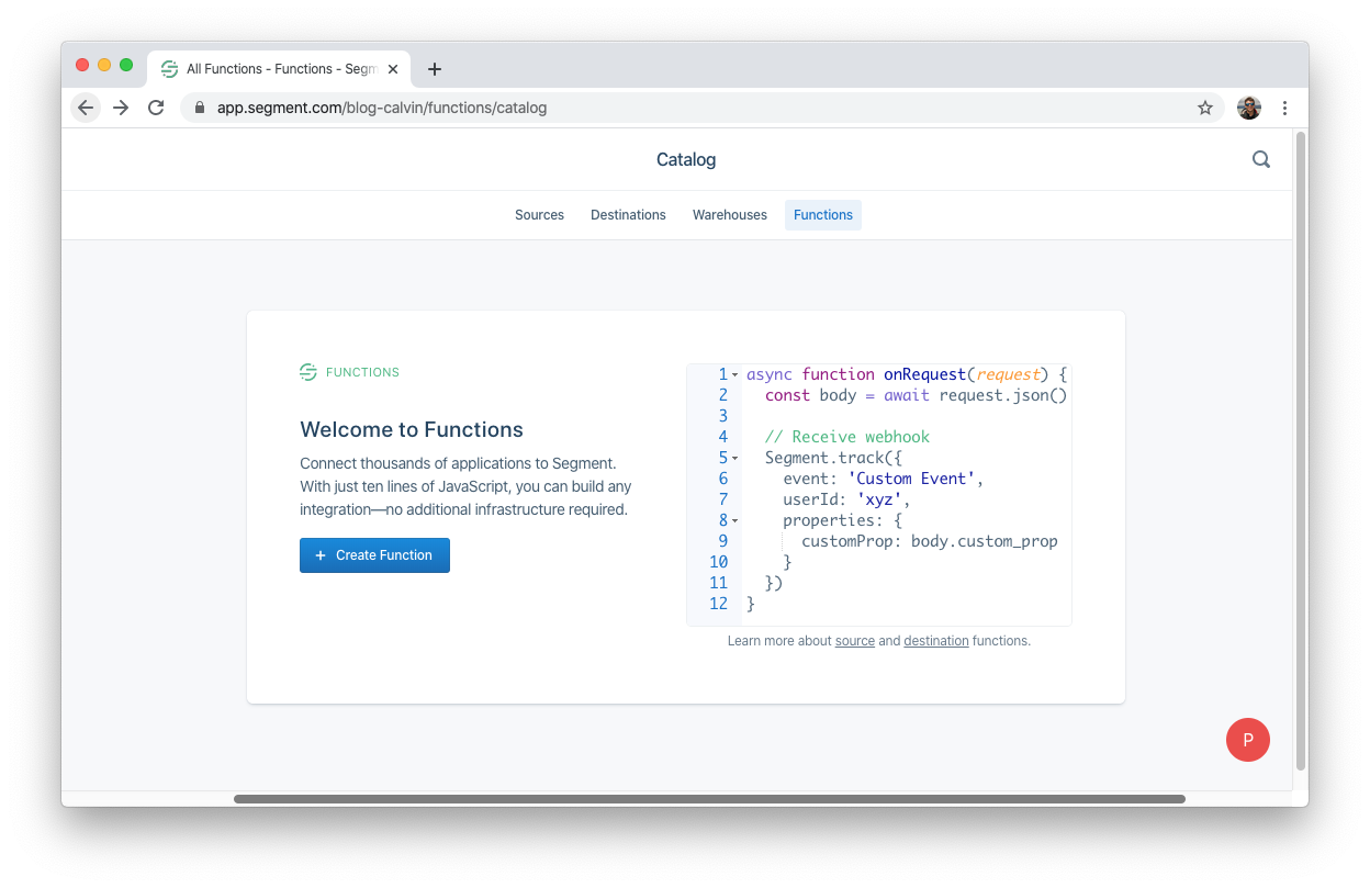 Simple code editor to build a function